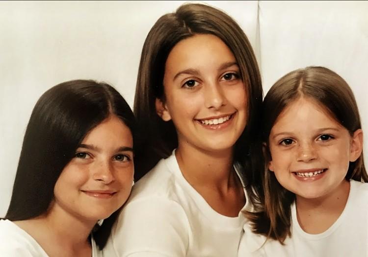 girls in white